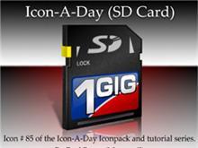 Icon-A-Day #85 (SD Card)