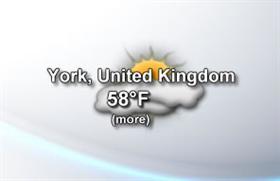 Animated weather forecaster