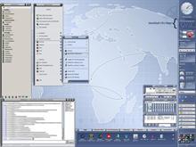 My Pixxy Desktop w- WorkShelf CPU Meter