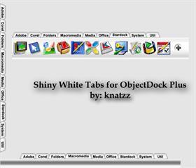 Shiny White Tabs