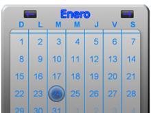 Silver Glass Calendar