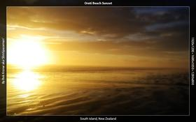 Oreti Beach Sunset