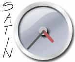 Silver Satin Clock