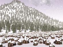 Snowy Winter Village