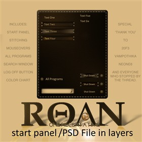 ROAN WB Start Panel