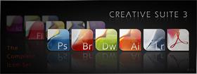 Creative Suite 3 icon set