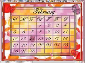 February Desktop Calender