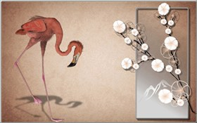 Flamingo_Spring Blossom_wallpak