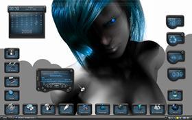 blue girl,