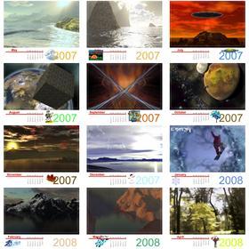 May 2007 - April 2008  art calendar
