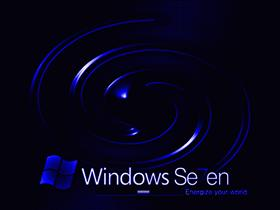 Windows 7 Dark Blue Swirl
