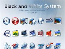 Black and White System icon set