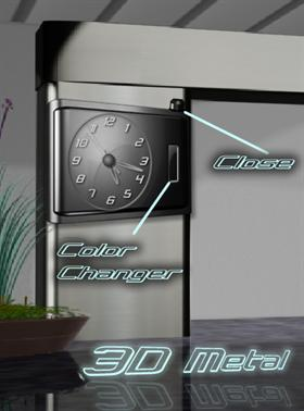 3D Metal Clock