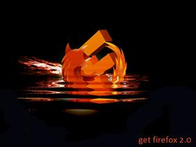 Firefox: fire in water