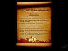 Math Commandments