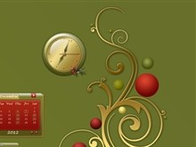 Yule Rock Clock
