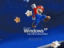 Windows XP Super Mario Galaxy Edition RUN