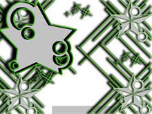 Green Vector Stars