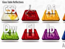 Adobe CS3 Glass Table