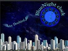 BlueNight clock