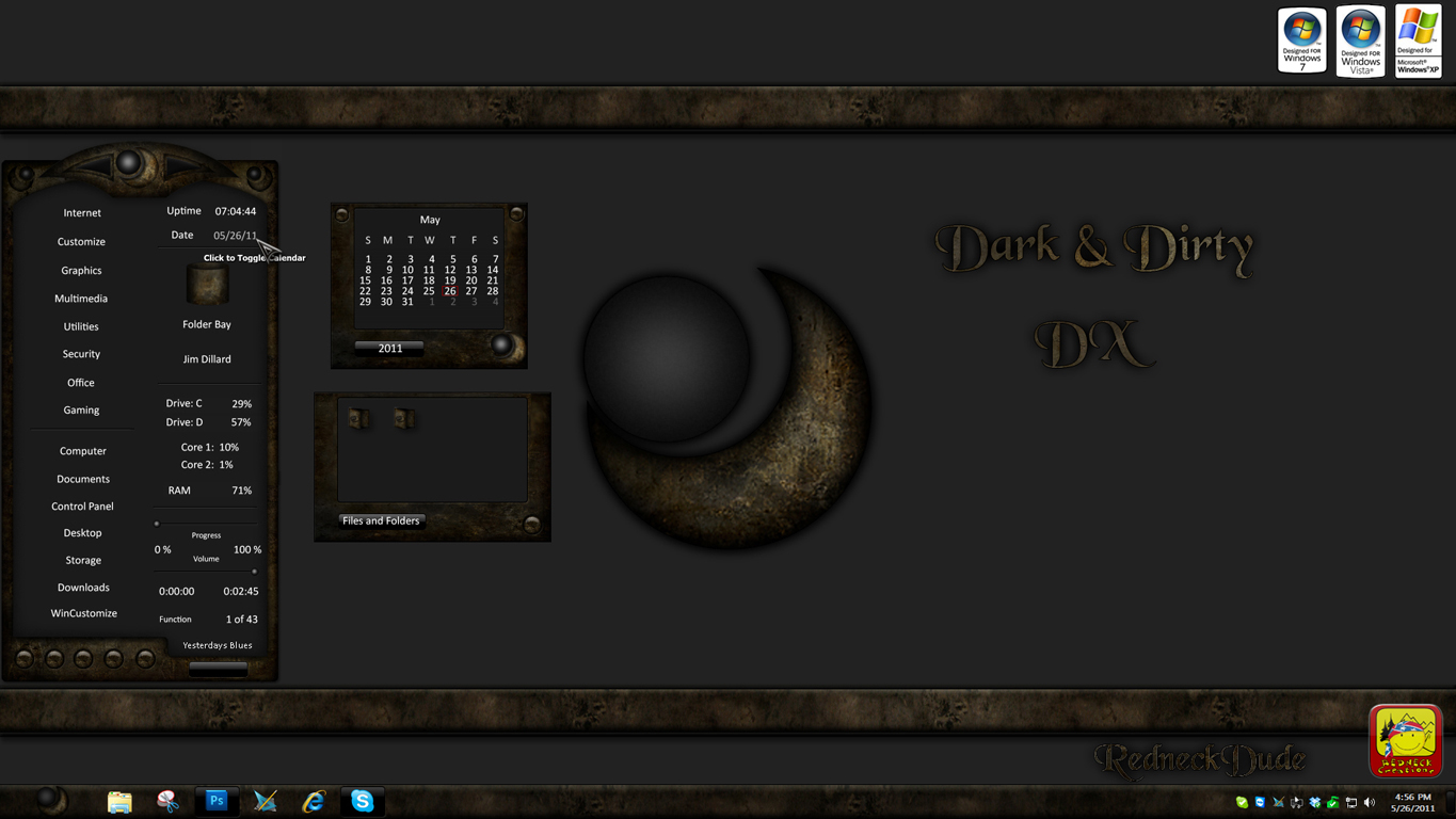 Dark and Dirty Sidebar DX