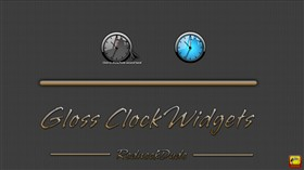 Gloss Clock Widgets