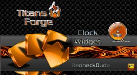 Titan's Forge Clock Widget