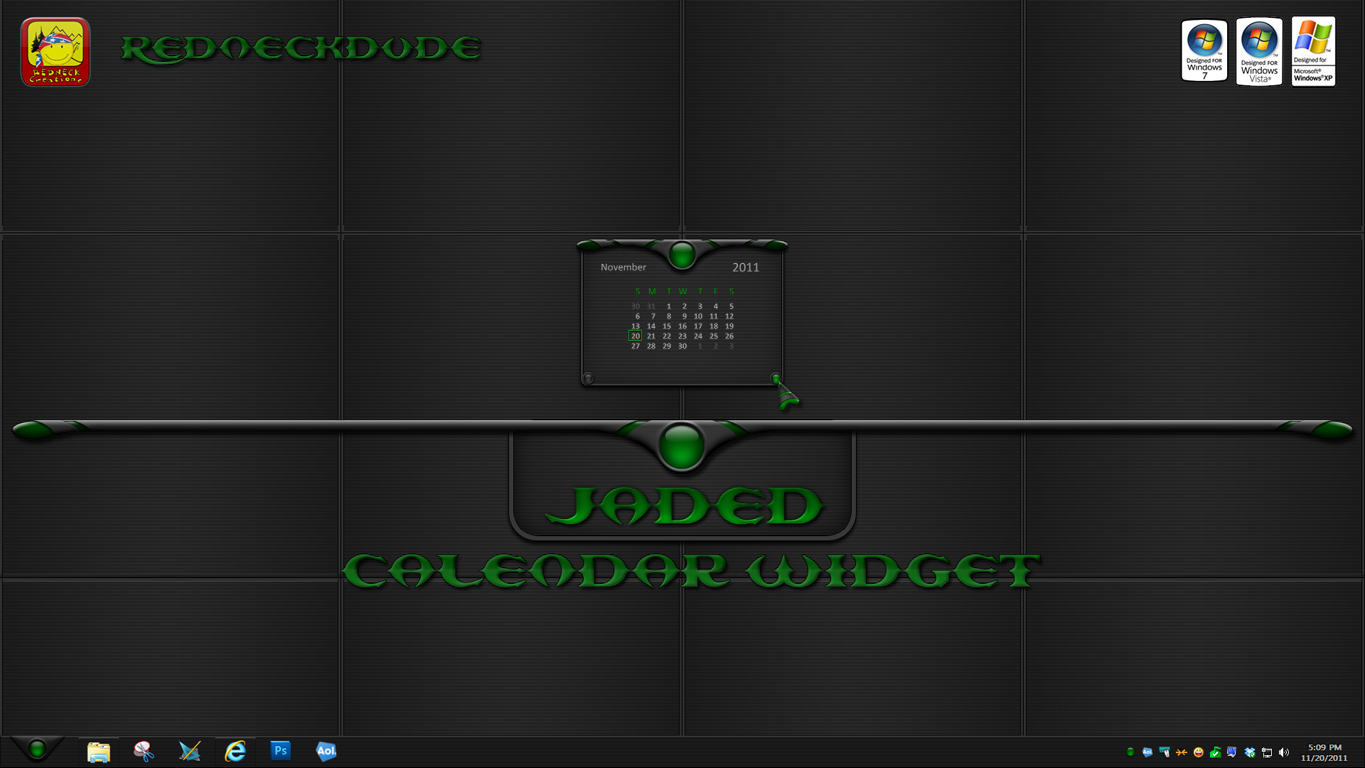 Jaded  Calendar Widget