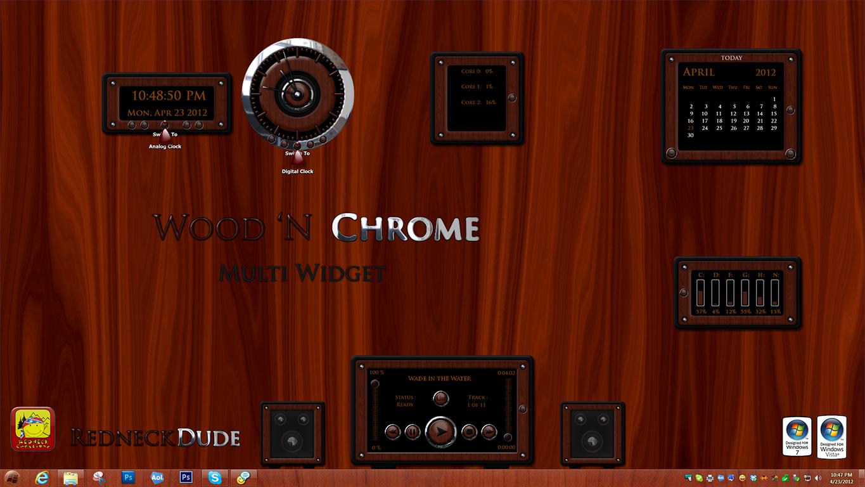 Wood 'N Chrome Multi Widget