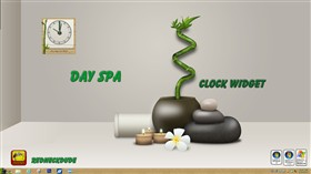 Day Spa Clock Widget
