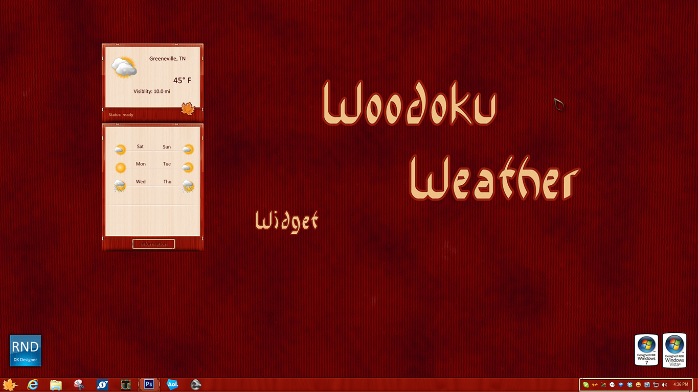 Woodoku Weather Widget