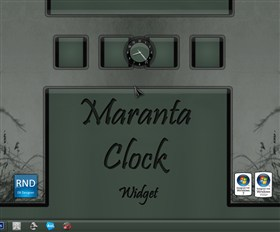 Maranta Clock Widget