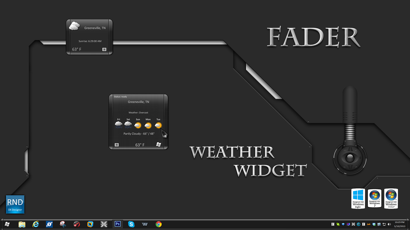Fader Weather Widget
