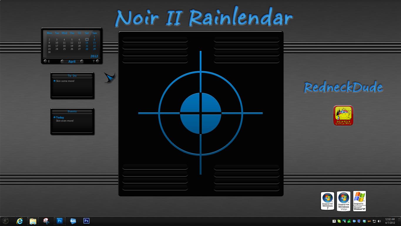 Noir II Rainlendar