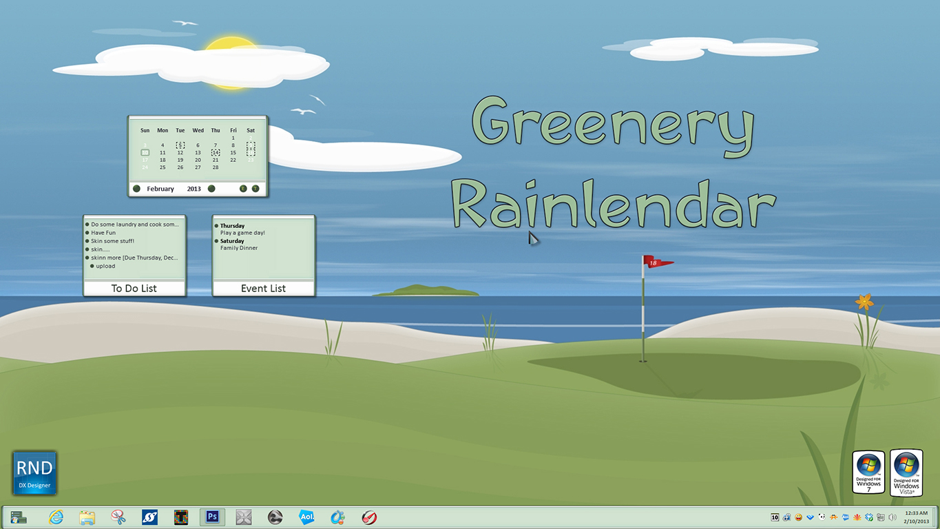 Greenery Rainlendar
