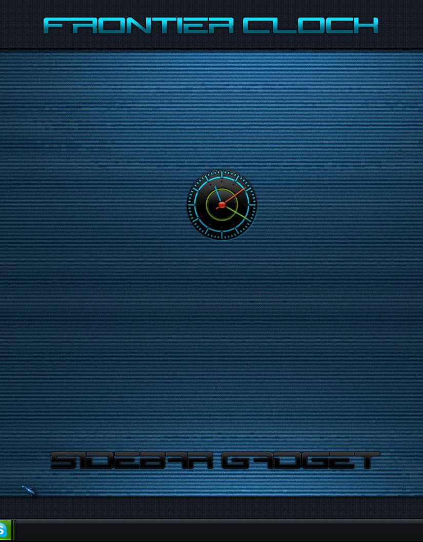 Frontier Clock Sidebar Gadget