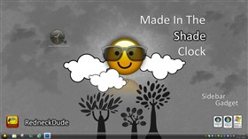 Made In The Shade Clock Sidebar Gadget