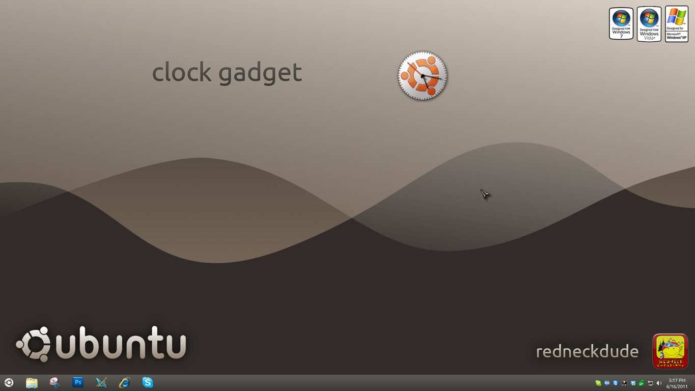 ubuntu 11 clock gadget