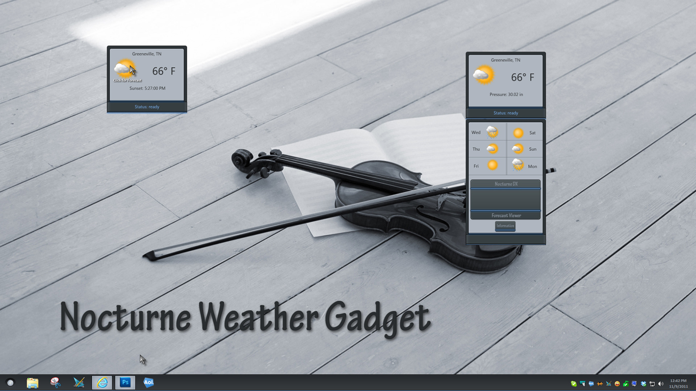 Nocturne Weather Gadget