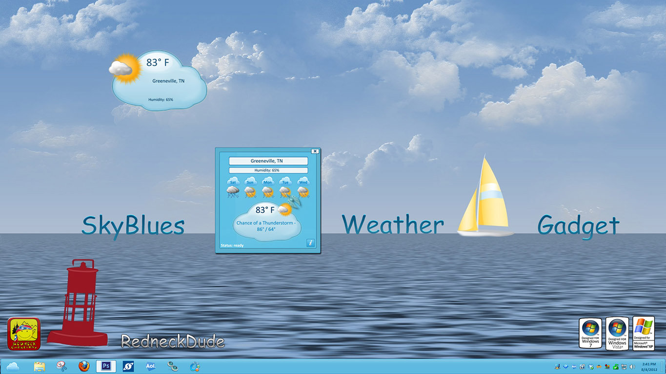 SkyBlues Weather Gadget