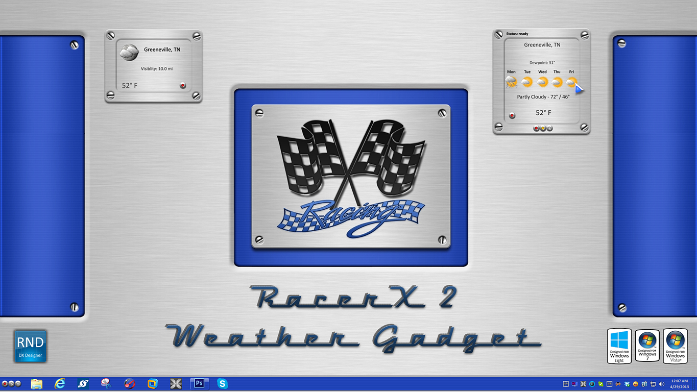 RacerX2 Weather Gadget