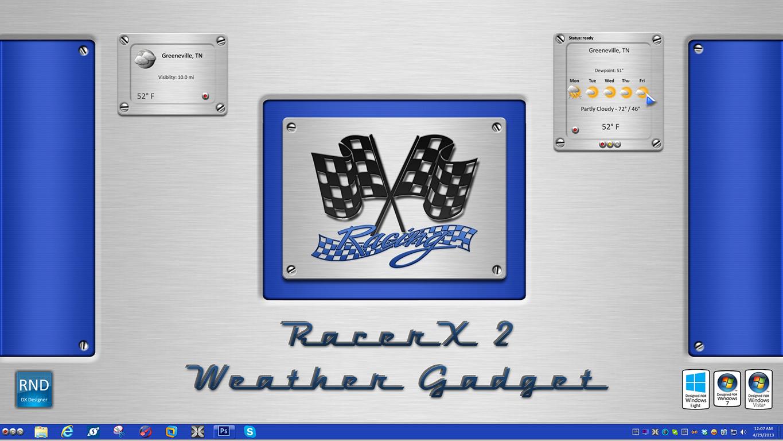 RacerX2 Weather Gadget