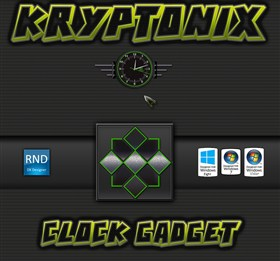 Kryptonix Clock Gadget