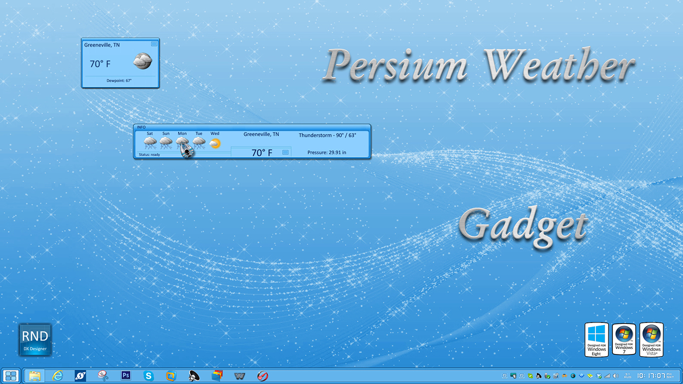 Persium Weather Gadget