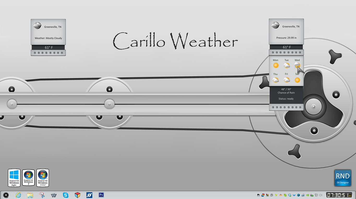 Carillo Weather Gadget