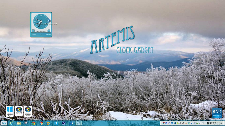 Artemis Clock Gadget