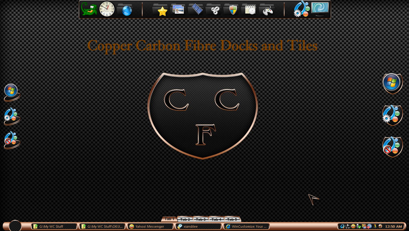 Copper Carbon Fibre Docks