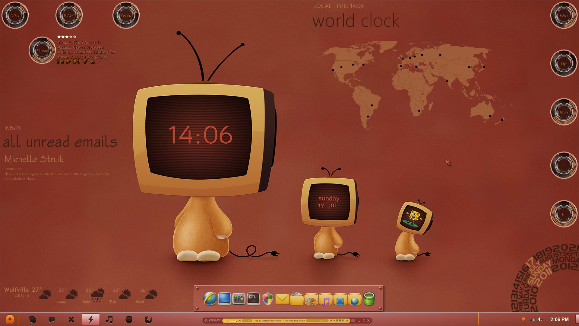 preview 13 27187 Wallpaper clock vista