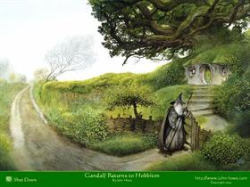 Gandalf Returns to Hobbiton