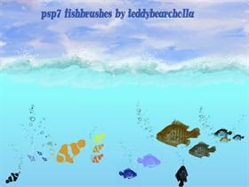 psp7 Fishbrushes